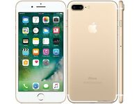 iPhone 7 plus 138 g in gold unlocked