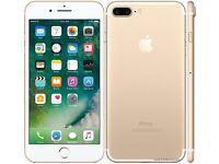 Iphone7 plus 138 g gold unlocked