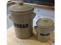 Bread and coffee storage stoneware