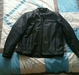 Biker leather jacket size XL