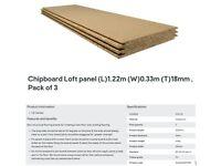 Chipboard Loft panel (L) 1.22m (W) 0.33m (T) 18mm 24 x 3 pack