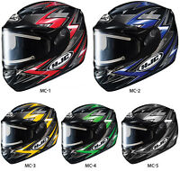 HJC CS-R2 THUNDER ELECTRIC SHIELD Helmet/Casque de moto V.E