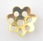Gold Plated Bead Caps 8mm