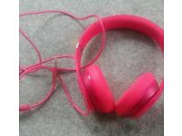 Genuine pink beats headphones
