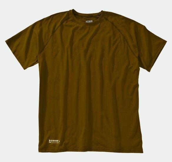Under Armour Tactical UA Tech Short Sleeve Tee Shirt - army brown