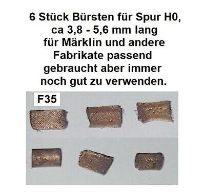 6 Stück Bürsten für Spur HO  für Märklin und andere Fabrikate passend        F35