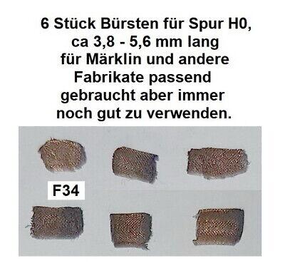 6 Stück Bürsten für Spur HO  für Märklin und andere Fabrikate passend        F34
