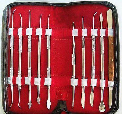 10pcsset Dental Lab Stainless Steel Kit Wax Carving Tool Set Instrumentusa
