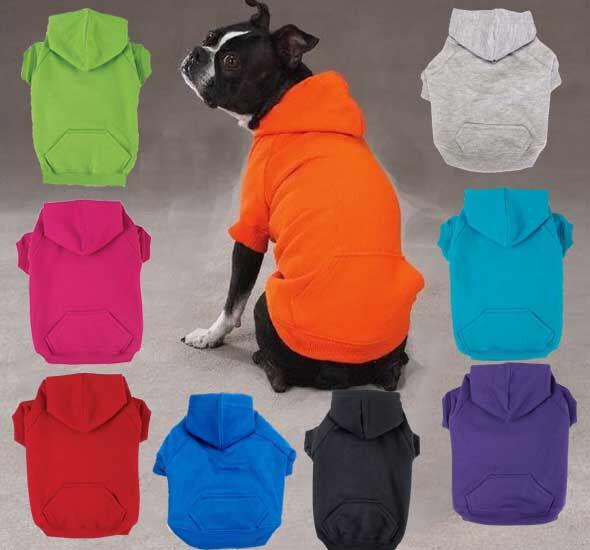 Dog Hoodie Basic Sweatshirt Shirt 9 colors Pet Coat Hood Zack & Zoey XS-XXL