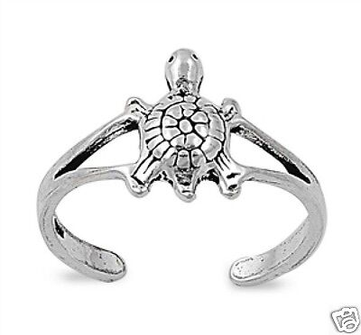 Adorable Turtle Toe Ring Sterling Silver 925 Sea World Jewelry Gift