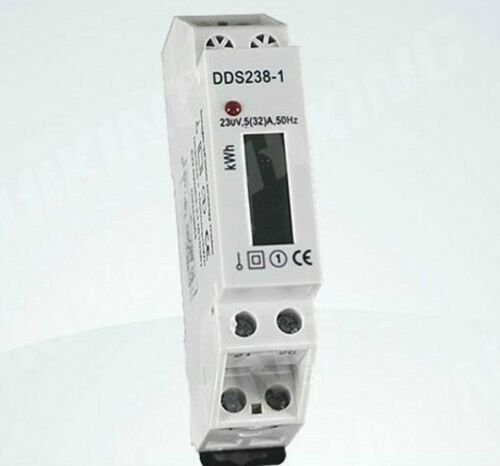 32 230VAC 5 A DIN Rail Kilowatt Hour KWH Meter Display DDS238-1 Digital LCD
