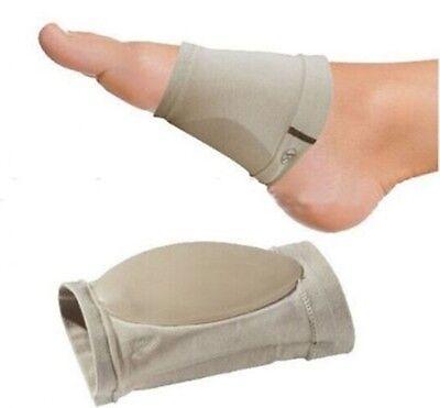 【US SHIP】1 Pair Gel Plantar Fasciitis Foot Arch Support Sleeve Sock Soft Comfort
