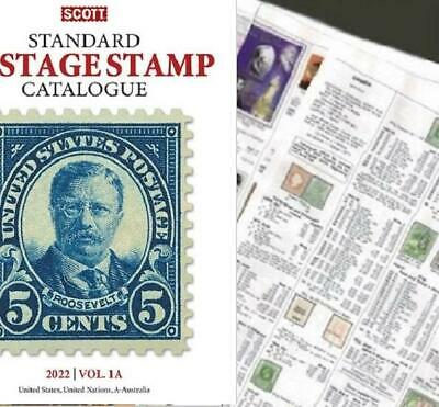 USA United States 2022 Scott Catalogue Pages 1-226