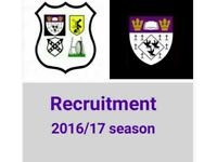 RUGBY CLUB RECRUITING NEW PLAYERS. All welcome