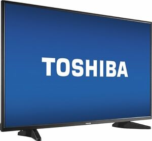 "Toshiba 43"" Led 1080p Tv Black $300"