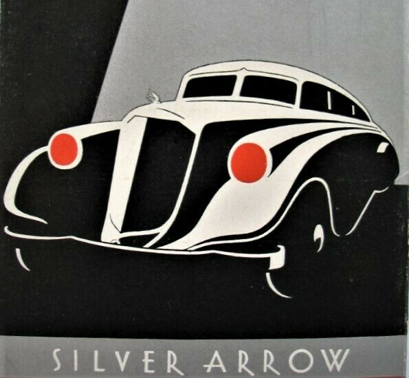 Vintage 1933  Pierce Arrow  -Silver Arrow Brochure Look Ahead
