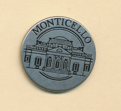 VA * Thomas Jefferson  Monticello  * NPS Pewter Collector Token Charlottesville