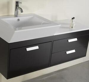 "Virtu USA 51"" Alicia - Single Sink Bathroom Vanity - Espresso"