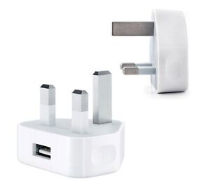 UK AC Plug Wall Mains USB Charger Adapter FOR iPhone 4s 5 5s Samsung HTC Sony