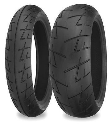 Shinko 160/60-17 120/70-17 009 Raven Motorcycle Tire Combo Set Front & -