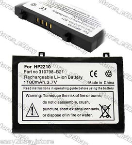 1100mAH Battery For HP PDA iPAQ pe2050x 2200 2215 2210 2212 2210e H2215 H2210e