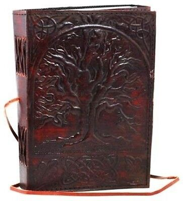 Sacred Oak Tree of Life Blank Page BOOK Handcrafted Leather Writing JOURNAL 5x7