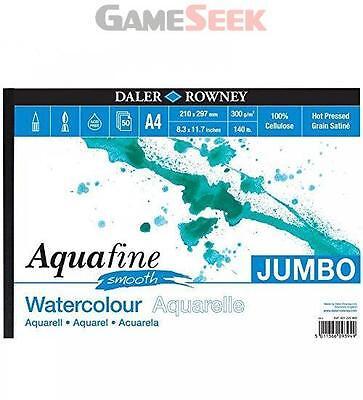 Daler Rowney AquaFine Jumbo Smooth Watercolour Paper A4 UK