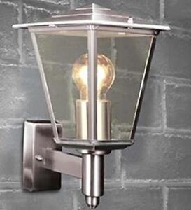 Modern Stainless Steel Outdoor Lantern 4 Sided Porch Wall Light Fitting IP44