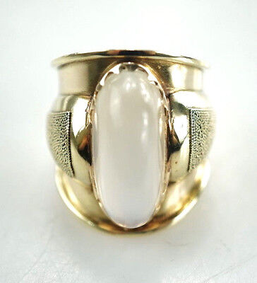 585er Gold Ring 14 Karat Mondstein Gelbgold Edelstein 10,42 Gramm - Gr. 54