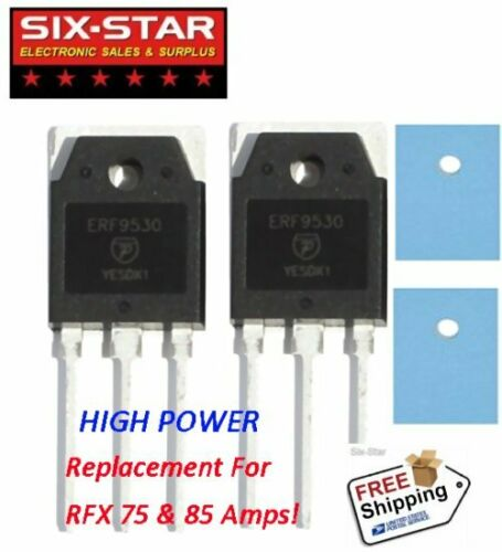 2 Pcs ERF9530 MOSFET 100W Replacement RFX75 RFX85 Amps - With Hi Temp Insulators