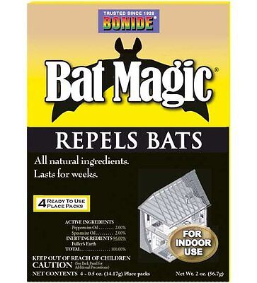 Bat Magic - BONIDE BAT MAGIC  Drives Bats from Confined Spaces They Like to Hide 4-Place Pks