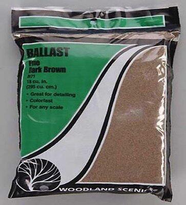 Woodland Scenics Ballast * 71 DARK BROWN FINE (18 cu in) - NIB