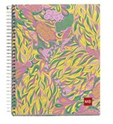 Miquelrius Tropical 4-subject College Rule Cardboard Notebook 6.5x8