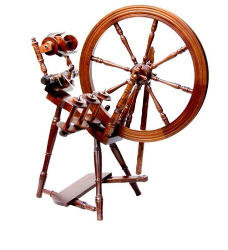 Kromski Interlude Spinning Wheel Walnut Free Shipping Special Bonus
