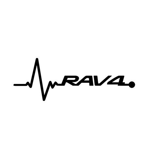 2X Heartbeat Graphic for Rav4 SUV Truck Car Automotive Decal Vinyl Sticker
