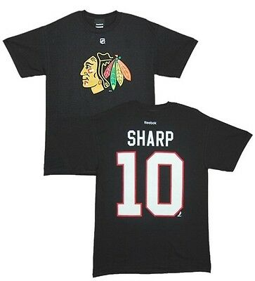 umber T-Shirt CHICAGO BLACKHAWKS Patrick Sharp 10 black (Chicago Blackhawks Eishockey)