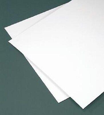 White Styrene Polystyrene Plastic Sheet .040 X 24 X 24 Thermoforming