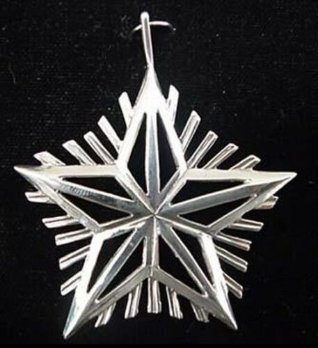 "Silver Star Sterling Christmas Ornament Hand and Hammer 2"" High"