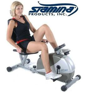 NEW STAMINA RECUMBENT BIKE Magnetic Resistance - FITNESS EXERCISE EQUIPMENT - AEROBIC TRAINING 108153379