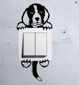 Cute Dog BEAGLE Pet light switch funny wall decal vinyl stickers f - Wilkowice, Polska - Zwroty są przyjmowane - Wilkowice, Polska