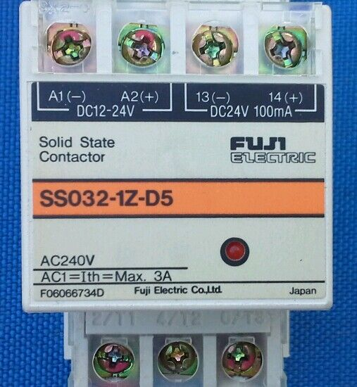 FUJI ELECTRIC SS032-1Z-D5 SOLID STATE CONTACTOR (Large Qty Available) F06066734D