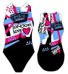 *Special Made* Turbo Waterpolo badpak London Love (levert...
