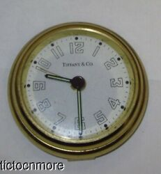 VINTAGE TIFFANY & Co AVIATOR BRASS TRAVEL DESK ALARM CLOCK GERMANY