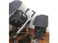 Looks Bebe pram/ carrycot with pushchair, baby car seat and many extras