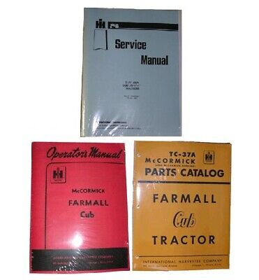 Farmall Cub Service Parts Owners Operators 3 Manual Set