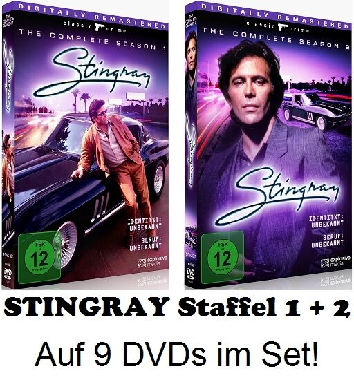 STINGRAY - Season / Staffel 1 & 2 - insgesamt 9 DVDs! auf Deutsch - NEU + OVP!
