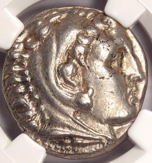 Alexander the Great AR Tetradrachm 336-323 BC - Certified NGC XF (EF) - Nice!