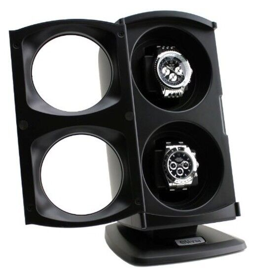 Dual Automatic Watch Winder Display Storage Case Rotation Lu