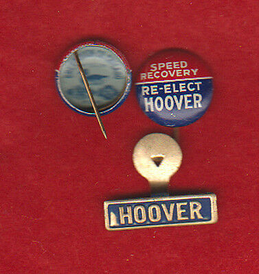 HOOVER 1932 SPEEDY RECOVERY CAMPAIGN PINBACK