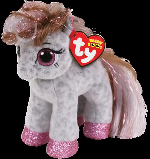 "2018 Ty Beanie Boos 6/"" Starr White Pony Stuffed Animal Plush MWMT/'s Heart Tags"